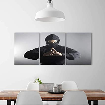 Amazon.com: L-QN Triptych Painting Combination Frameless A ...
