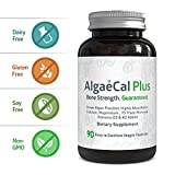 (US) Natural Calcium and Magnesium Supplement - AlgaeCal Plus (90 Capsules) - All-Natural, USDA Certified Organic Algae - 3 Vitamins and 73 Trace Minerals Aid in Restoring Strong and Healthy Bones