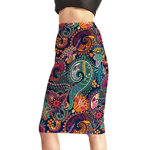 RU Jupe courte Pack Jupe mi-Longue Jupe Demi-Longueur Jupe Rtro Jupe Jupe Fminine Jupe Imprime Photo Color