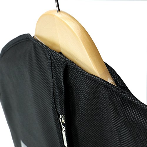 """Hangerworld 54"""" Black Breathable Suit Cover Carrier Bag for Travel with Webbing Handles"""