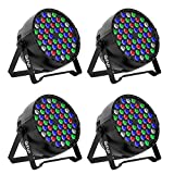 Gohyo LED Stage Lights 4pcs 54X3W LEDs RGBW Sound Activated DJ PAR Lights Uplights For Christmas Wedding Party Lighting