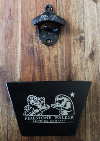 - Firestone Walker Brewing Company - Wall Mounted Bottle Opener with Cap Catcher