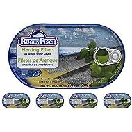 Rugen Fisch Herring Fillets in White Wine Sauce 7 oz (200 g) Pack of 5