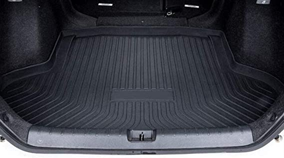 San Auto Cargo Liners Custom Fit for Honda Civic Sedan 2016-2021 Rubber Rear Trunk Mats Black All Weather Protector Waterproof Heavy Duty Odorless