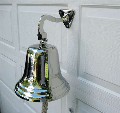 Ships Bell-large-aluminum- Polished Nick - Polished Nickel Ships Shopping Results