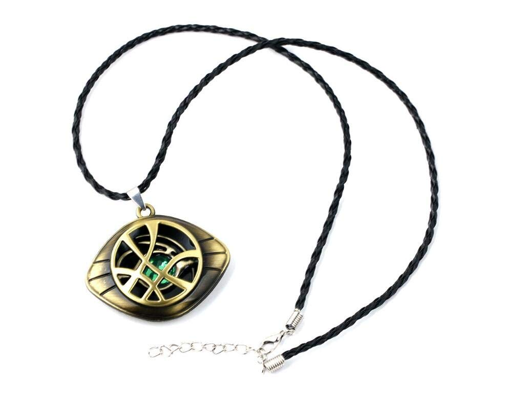 YANJIKEJI Doctor Strange Necklace Eye of Agamotto Costume Prop Stone Pendant with Jewelry Box ... (Necklace) by YANJIKEJI (Image #2)