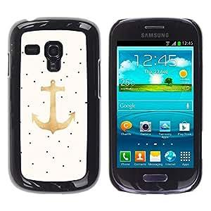 Be Good Phone Accessory // Dura Cáscara cubierta Protectora Caso Carcasa Funda de Protección para Samsung Galaxy S3 MINI NOT REGULAR! I8190 I8190N // Anchor Art Oil Paint Dots Art Dr