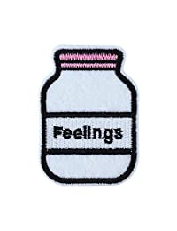 CoulorButtons Sequin Iron On Patch Badge Drink Lip Sew Patches Clothing Accessories (Style 2)