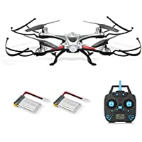 GoolRC T6 2.4G 4CH 6-Axis Gyro Waterproof Drone Headless Mode One Key Return Quadcopter with One Extra Battery