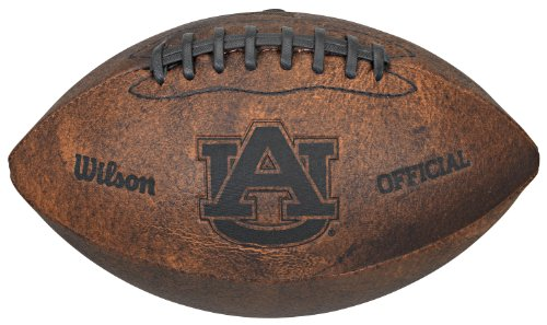 NCAA Auburn Tigers Vintage Throwback Football, 9-Inches