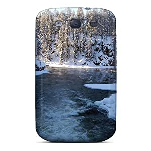 New Arrival Galaxy S3 Case Cottage On The Bank Of Frozen River Case Cover
