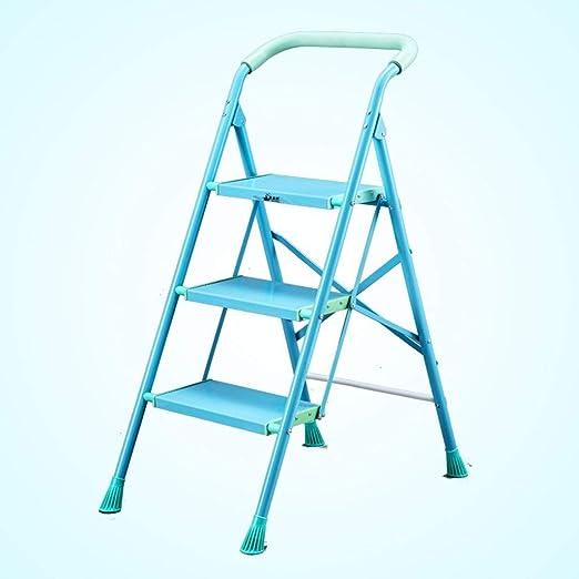 LXJJDGF Taburete De Paso, Escalera De Aleación De Aluminio, Escalera Plegable Hogar, Escalera Mecánica Engrosamiento, Escalera De Cuatro O Cinco Pasos, Escaleras Escalera Interiores (Color : B): Amazon.es: Hogar