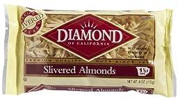 Diamond Slivered Almonds, 6 oz