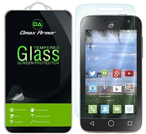 Alcatel OneTouch Pop Star 2 LTE (A521L) / Pop Nova LTE (A520L) Glass Screen Protector, Dmax Armor® [Tempered Glass] Ballistics Glass, Anti-Scratch, Anti-Fingerprint, Ultra-Clear