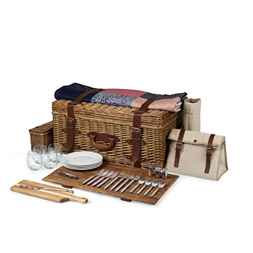 Picnic Time Charleston Premium Picnic Basket with Deluxe Service for Four by PICNIC TIME