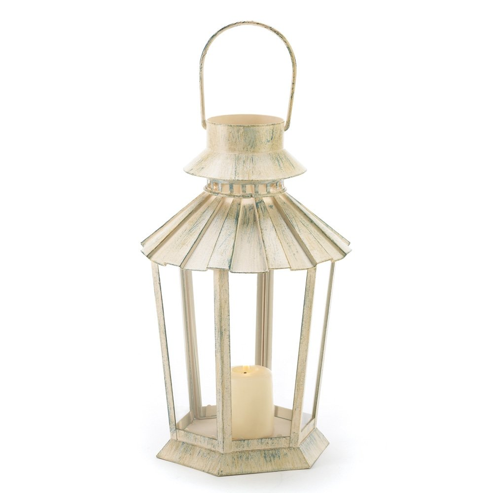 Amazon.com: Gifts & Decor Graceful Garden Lantern Light Candle ...