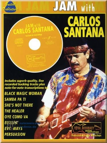 Carlos Santana – Jam with – Guitare et notes de musique ...