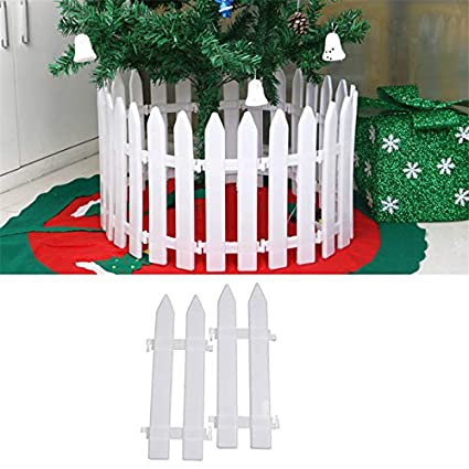 50ct christmas ornaments 6pcsset christmas decorations 5pcslot christmas tree fences white color christmas decorative