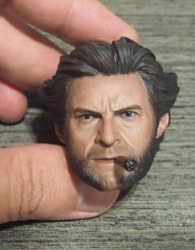Eleven 1//6 Scale Wolverine Original Logan Hugh Jackman Head Sculpt with Cigar