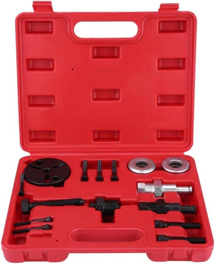 Herramienta de Desmontaje Reparación de Compresor de Aire Acondicionado A/C Automotriz Coche Refrigerante Kit de Removedor de Embrague