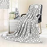 vanfan All-Season Super Soft BlanketArabesque Star Pattern Antique Islamic Architecture Decorative Elements Traditional,Silky Soft,Anti-Static,2 Ply Thick Blanket. (90''x70'')