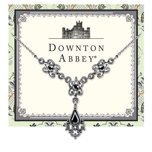 Downton Abbey Antiqued Silver-Tone Hematite Crystal Necklace 17722