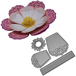 Newest Arrivals! Metal Cutting Dies Flower Embossing Stencil Template for DIY Scrapbooking Album Paper Card Craft Decoration By E-SCENERY (B)