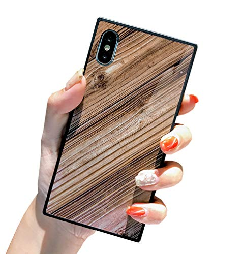iPhone Xs Case,Duolla iPhone Xs Wood Print Case Slim Fit Anti Scratch Protective Phone Case Cover Shell Shockproof TPU Bumper Flexible Soft Silicone Rubber Case Cover for Apple iPhone Xs/X /10