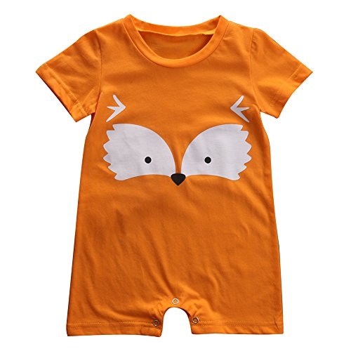 Newborn Baby Boy Girl Fox Romper Summer Jumper Playsuit Outfits (3-9 Months)