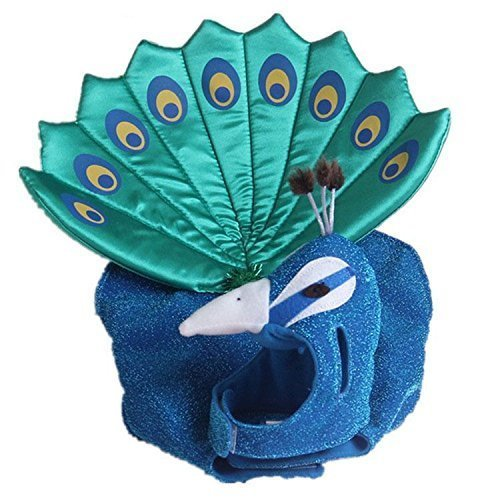 Dogs Kingdom Cute Blue Peacock Pet Costume For Dogs Cats Puppy Halloween Costume