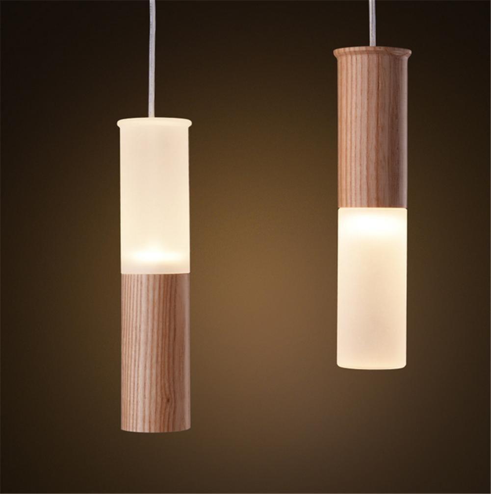 DKZ Iluminación de interior Lámparas Lámparas Lámparas de araña Lámparas de cristal de roble Roble Madera Natural Dormitorio Comedor Lámpara de araña,UN 4debc6