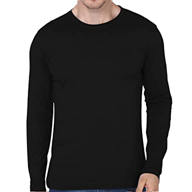 21d0f39943a Men s Round Neck Full Sleeve -Tshirt-190 (Black Colour)  (99-FKT-S10006-001-006)  Amazon.in  Clothing   Accessories