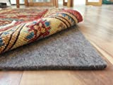 100% Felt Rug Pad - SAFE for all floors - Extra Thick - Add Cushion, Comfort and Protection (9' x 12')
