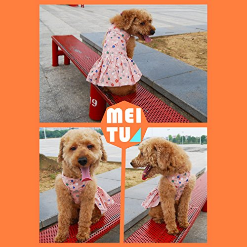 Legendog Princess Pattern Summer Printing Dress for Sunflower XL Dress Dress Apparel Party Dog Cute Puppy Pink Pet Shirt Size tqy0w86xtr