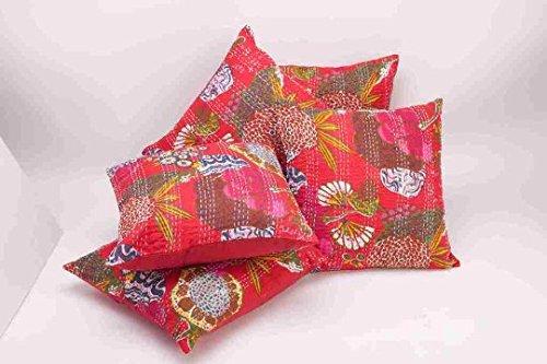 india carpet and textile Juego de 5 Fundas de cojín ...