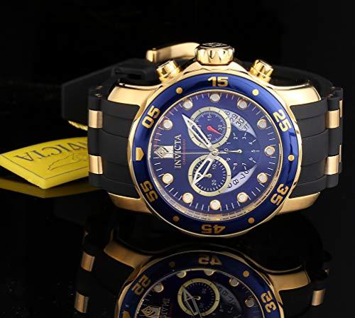 (Invicta Men's 6983 Pro Diver Collection Chronograph Blue Dial Black New)