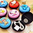 INFInxt Cute Multipurpose Coin Earphone Pouch for Kids Birthday Party Return Gift (Pack of 6) (Round)