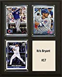 "MLB Chicago Cubs Kris Bryant Three Card Plaque, 8"" x 10"", Brown"