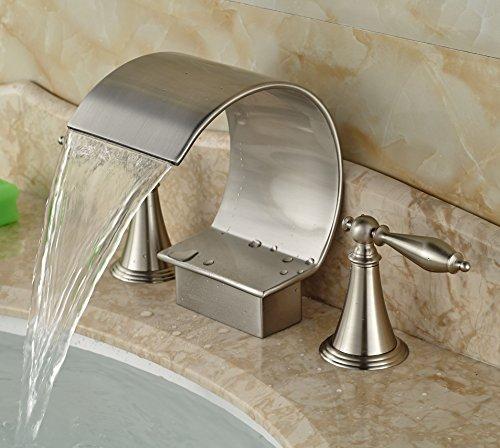 Widespread bathtub nickel faucets price compare for Bathtub material comparison