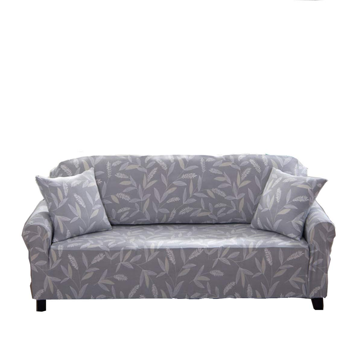 ENZER Funda de sofá Tejido Elástico Flor Pájaro Sofá Proteger Cubre sofá 1 2 3 Plazas (Bambú, 1 Plaza)