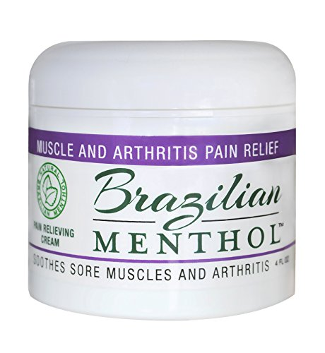 Brazilian Menthol Pain Relieving Cream, Cooling Pain Relief, Soothes Sore Muscles and Arthritis, Non-Greasy, Natural Menthol and Natural Epsom Salts, No Capsaicin, No Lidocaine ()