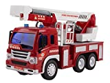 remote control 18 wheeler trucks - Remote Control Toy Fire Truck RC Truck 1:16 Four Channel Full Function w/ Lights & Music Battery Powered RC Truck Toy