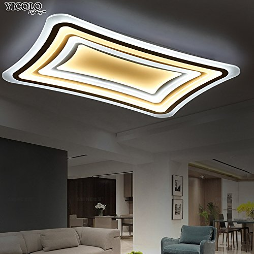 Lights & Lighting Remote Control Led Ceiling Light With Ultra-thin Acrylic Lamp Ceiling For Living Room Bed Room Flush Mount Lamparas De Techo Ceiling Lights & Fans