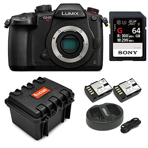 Panasonic GH5 Lumix C4K Mirrorless Camera with 32GB SD Card and Hard Case - Secure Digital Panasonic Memory Card