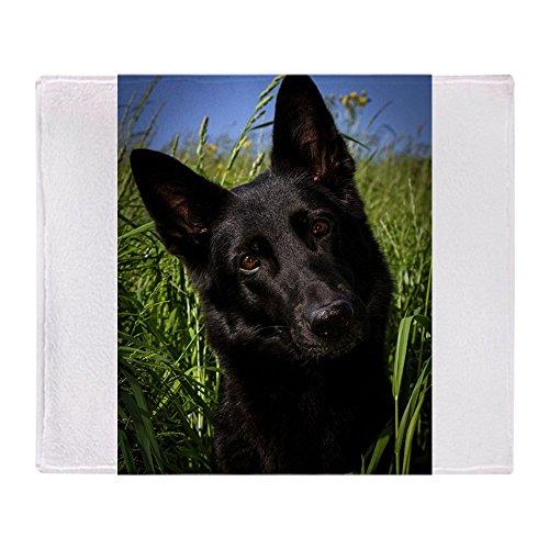 CafePress German Shepherd Black Soft Fleece Throw Blanket, 50
