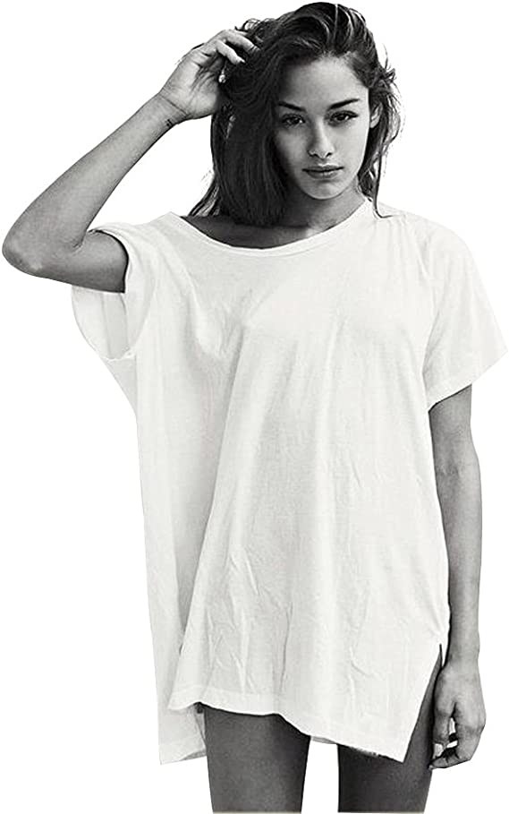 oversized white t shirt womens