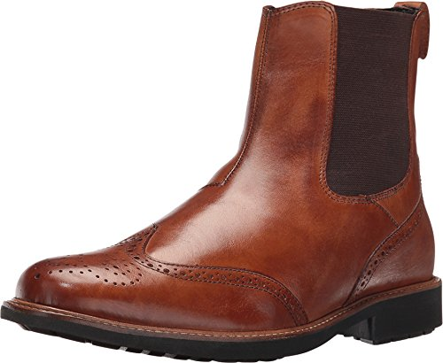 Massimo Matteo Mens Chelsea Wing Boot Tan