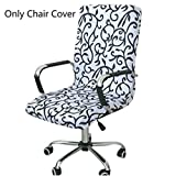 #6: Caveen Office Chair Cover Computer Chair Universal Boss Chair Cover Modern Simplism Style High Back Large Size (Chair not included)