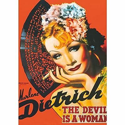 Dtoys Puzzle 1000 Pices Vintage Posters Marlene Dietrich Le Diable Est Une Femme