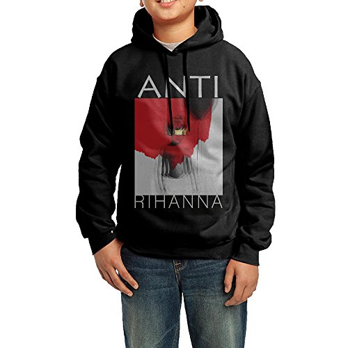 Funny R Rated Costumes (YHTY Youth Unisex Hoodie Rihanna Anti Black Size M)